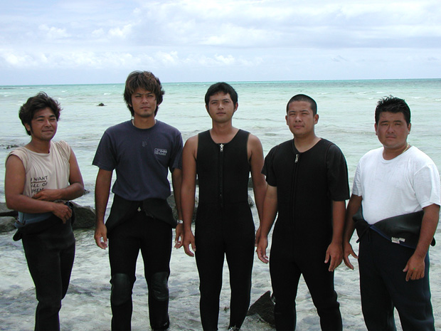 久米島漁協青年部の海人(うみんちゅ)イメージ